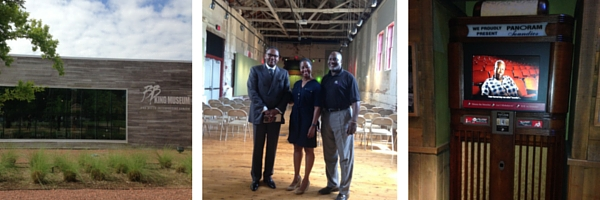 David Bickham, Kim Merchant with the MS Center for Justice and Robert Terrell the Director of Operations at the BB King Museum