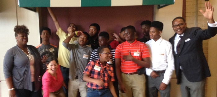 The SHINE: Jackson youth team, with David Bickham, far right, May 2016